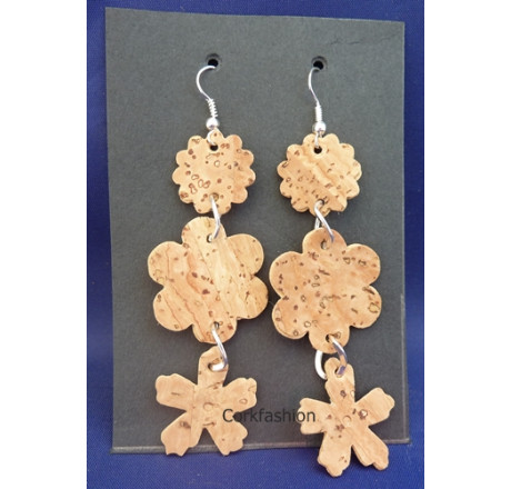 Earrings (LC-801 model) from the manufacturer Luisa Cork